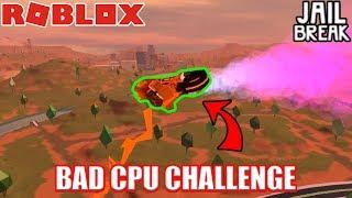 POTATO CPU CHALLENGE *HARD* | Roblox Jailbreak