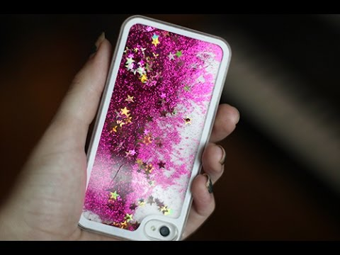 the best attitude 53ff0 11ff6 glitter liquid iphone case - YouTube