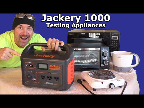Jackery 1000 testing Appliances & SOLAR PANEL Charging REVIEW Newpowa Van Life RV system PREPPER