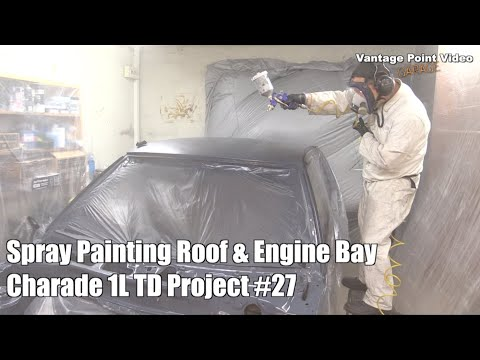 Spray Painting Roof & Engine Bay: Charade Project #27