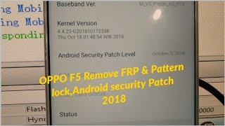 Bypass screen lock pattern oppo f5 cph1729 by downloadtool