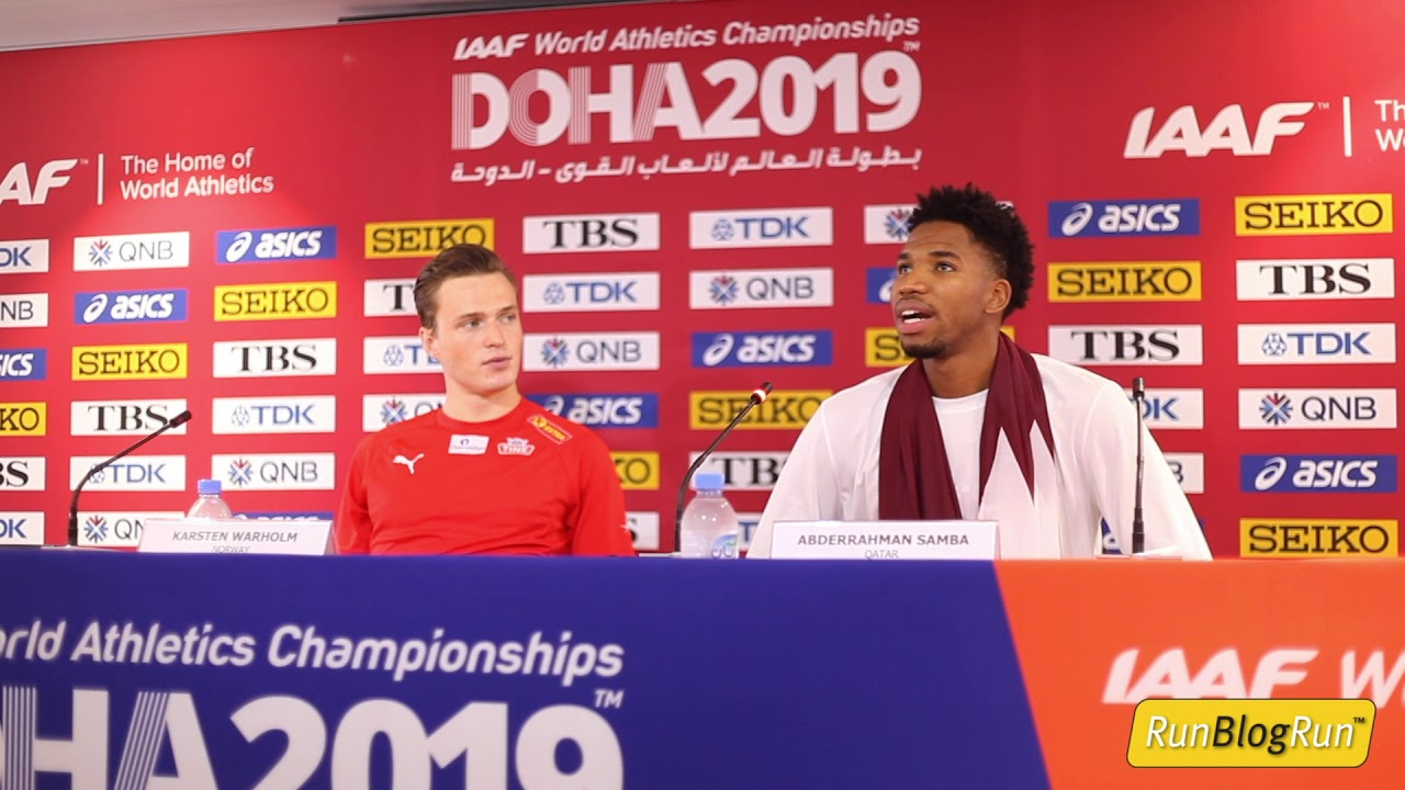 Doha WC 2019 - Men's 400m Hurdles Final Press Conference