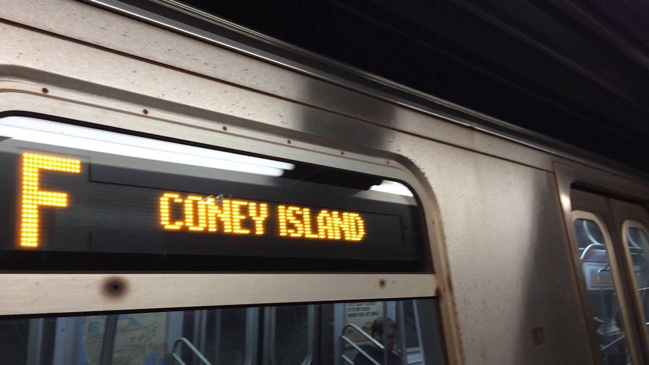 MTA NYC Subway : Coney Island bound R160A-2 (F) Train at ...
