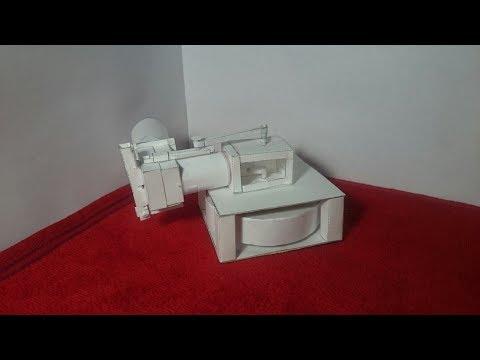 Make 1-cylinder paper engine.Part-1/2