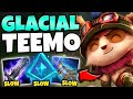 NOBODY CAN MOVE WITH GLACIAL TEEMO TOP! 100% SLOW UPTIME - League of Legends
