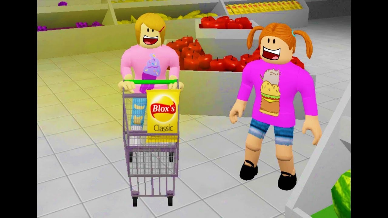 Roblox Molly And Daisy Grocery Shopping Youtube