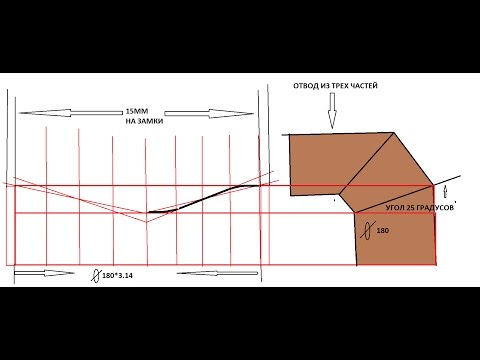 изготовление оцинкованной трубы + отвод из трех частей