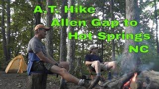 Appalachian Trail Allen Gap to Hot Springs NC