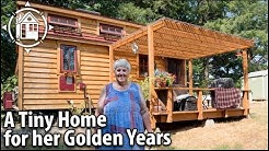 She Retired into a TINY HOUSE (with a Hot Tub) for her Senior Years