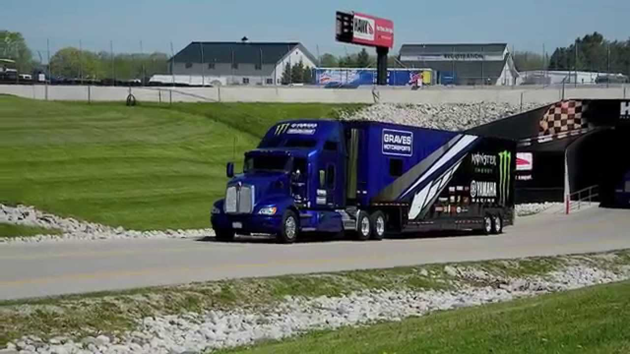 The Yamaha Trucks, Bikes, And Teams Arrive At Road America - YouTube