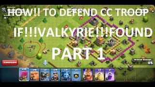 how to defend cc troop part 1 - VALKYRIE by CLASH OF CLANS WORLD #COC || clash of clans world