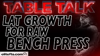 Download Lagu Tips for Lat Growth for the Raw Bench Press - elitefts.com mp3