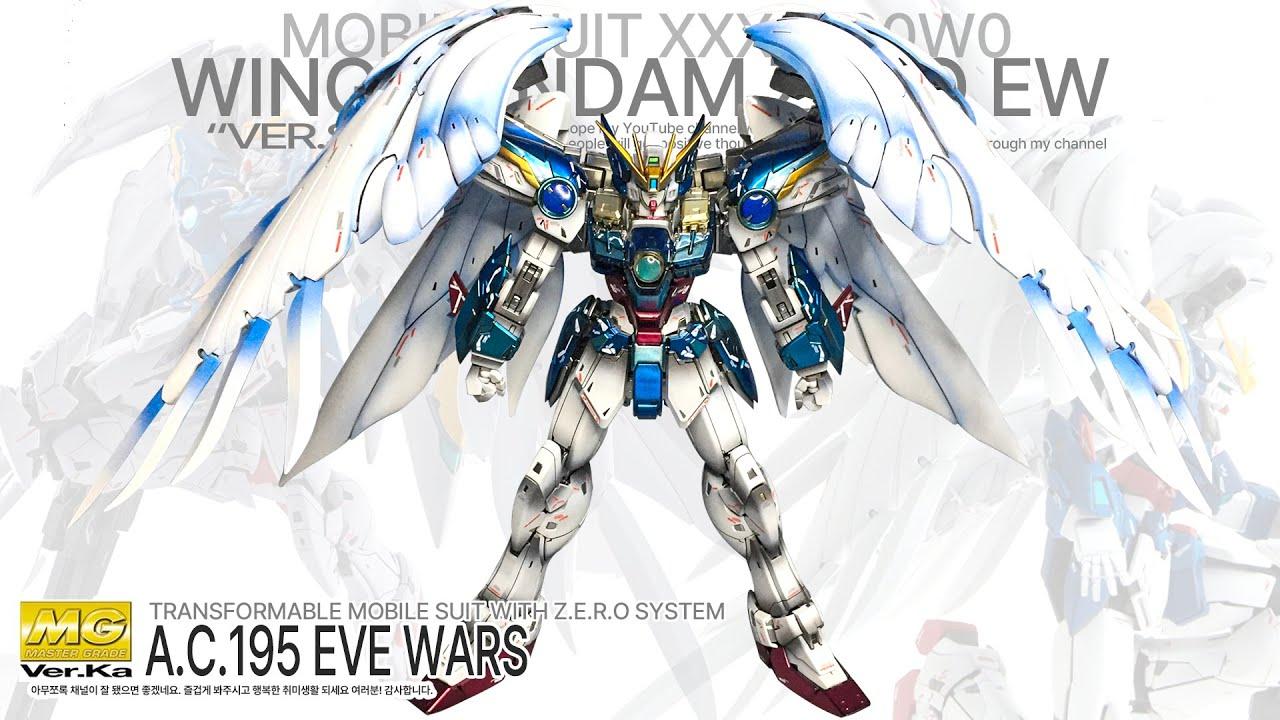 Wing Gundam Zero Ew Ver Ka Mg Custom Build Asmr Gundam Build Gunpla Asmr Custom Build Youtube