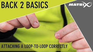 *** Coarse & Match Fishing TV *** Back 2 Basics - Jamie Hughes - Attaching a loop-to-loop correctly