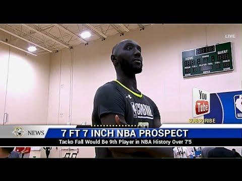 7 Foot 7 African Basketball Player Tacko Fall NBA Draft | BSMTV News