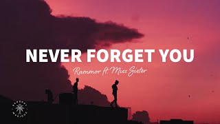 Rammor - Never Forget You (Lyrics) ft. Miss Sister