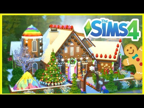 Christmas Gingerbread House  [ The Sims 4 House Building ]