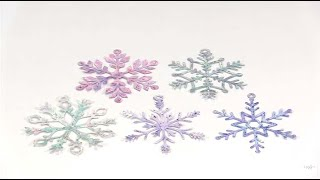 Creating Watercolor Snowflakes... With A Little Bling! by Joggles.com