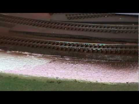 Quickly weather model train track fast and easy