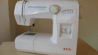 AEG 11220 швейна машина Sewing machine Свині машина випробування