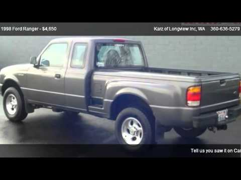 1998 ford ranger 4x4 extended cab step side for sale in longview wa 98632