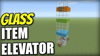 Minecraft Xbox - GLASS ITEM ELEVATOR - Redstone Tutorial - PE / PS4 / PS3 / Switch