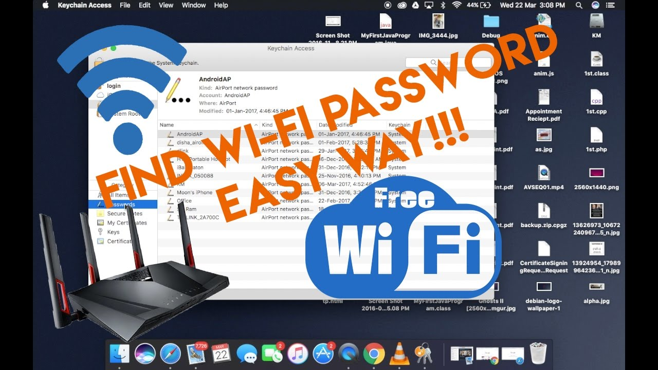 how to find your work computer wifi password mac