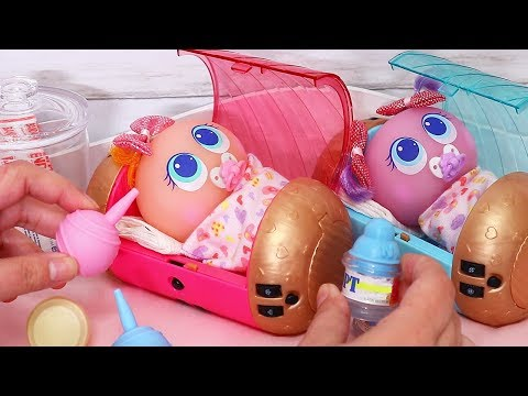 Toy Babies that Light Up ! Toys and Dolls Pretend Play Fun for Kids with Neonates | SWTAD