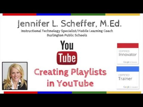 Creating Playlists in YouTube
