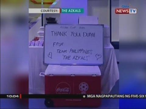 Azkals, hinangaan matapos iwanang malinis ang kanilang locker room sa Dubai at may thank you note pa