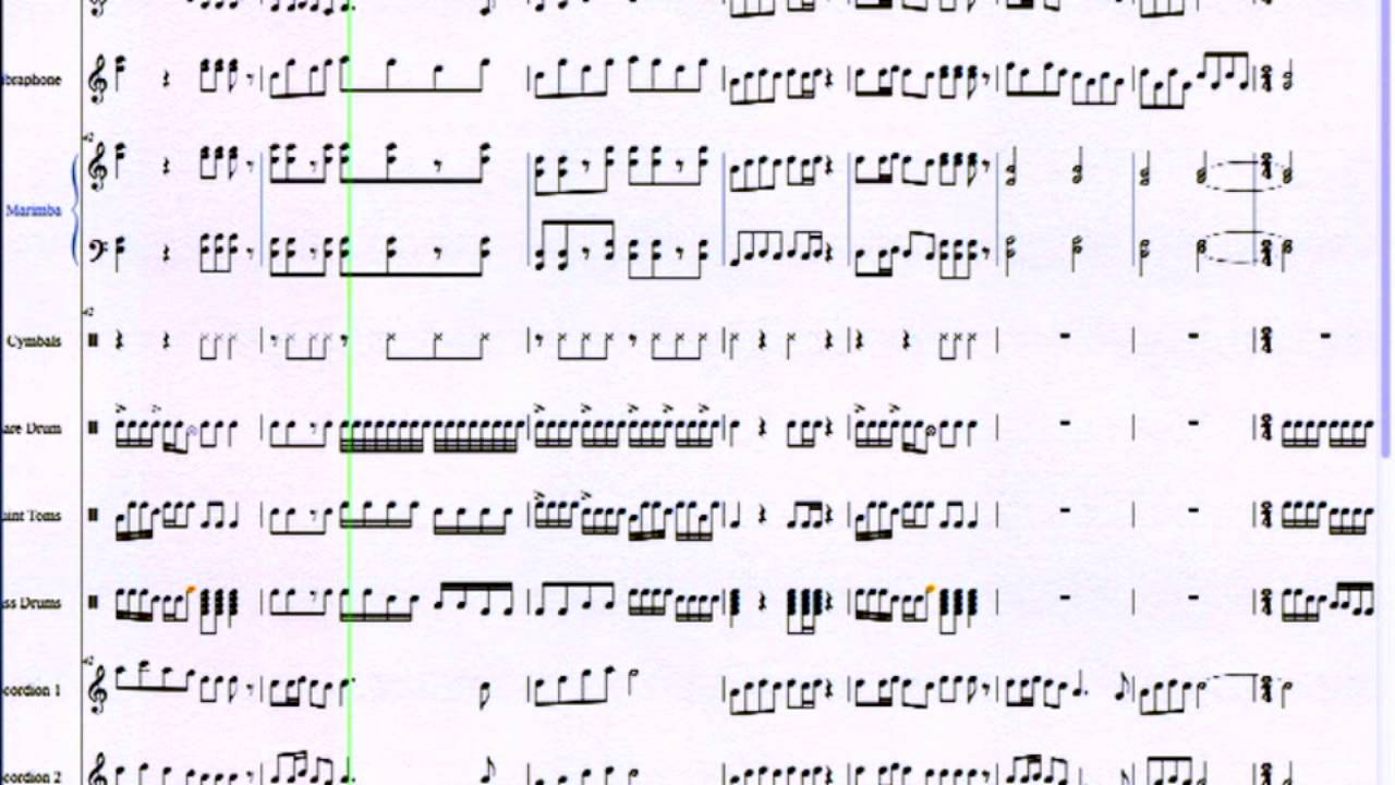 Ondel Ondel Pianica And Marching Percussion Arrangement Youtube