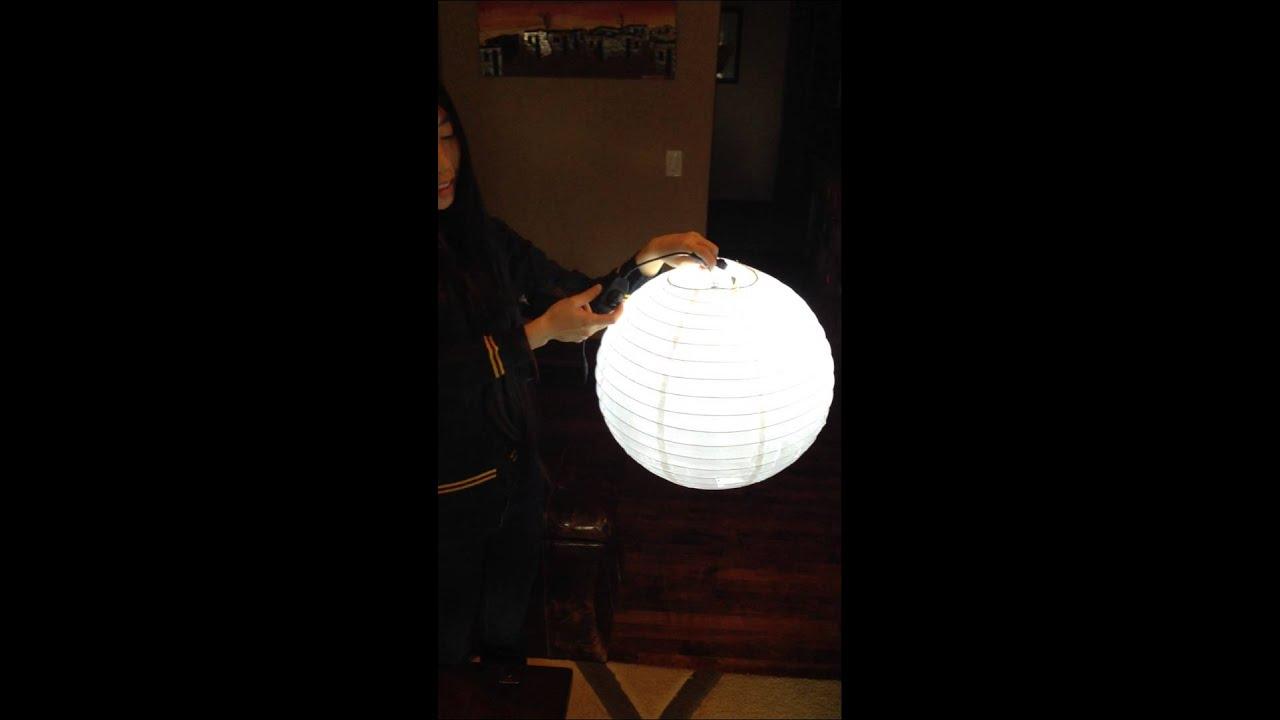 Battery powered china ball light