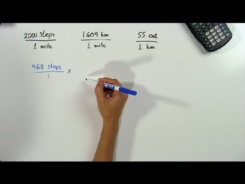 How to Convert Steps to Miles to Kilometers to Calories Burned: Math Problems & Trigonometry