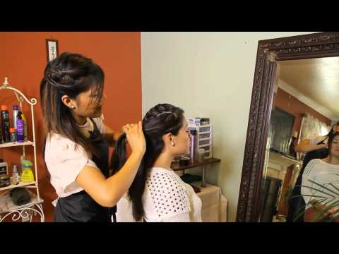 How to Do a French Braided Updo : Tress to Impress