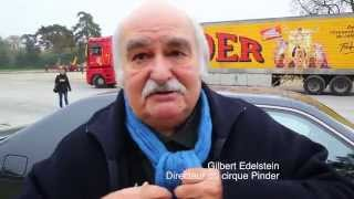 Arrivée et montage du cirque Pinder à Paris 2015 Bois de Vincennes Pelouse de Reuilly