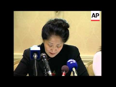 Presser by woman who cried out during Hu visit
