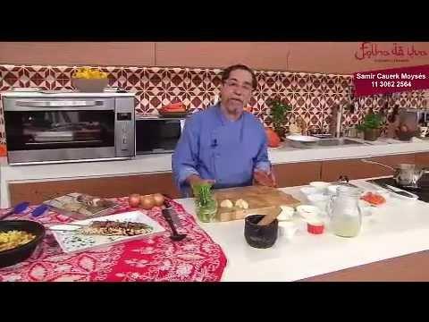 Restaurante Folha de Uva - Chef Samir Cauerk Moysés -  Pilaf e Kebab de Carneiro e Frango