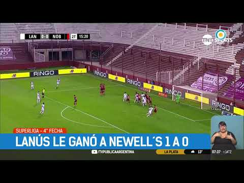 Superliga: Lanús 1 - 0 Newell's