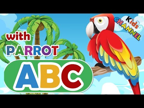 Learning abc alphabet with PARROT 👍 for kids 👍