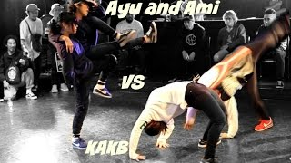 B-girl Final. KAKB (Miju and Yasmin) vs. Ayu and Ami. BOTY Qualifier