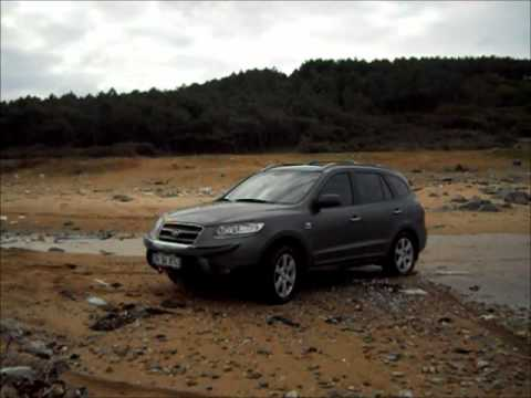 hyundai santa fe 2 2 crdi offroad test youtube. Black Bedroom Furniture Sets. Home Design Ideas