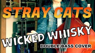 WICKED WHISKY / STRAY CATS (LEE ROCKER)【DOUBLE BASS COVER】
