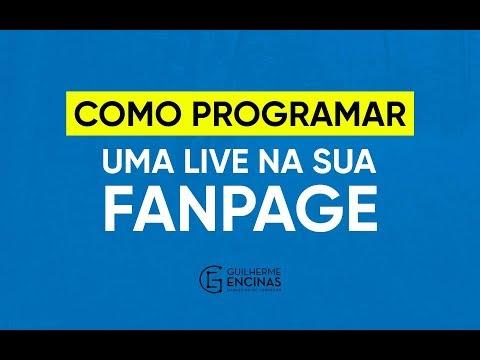 Como programar uma LIVE na sua Fanpage | Guilherme Encinas