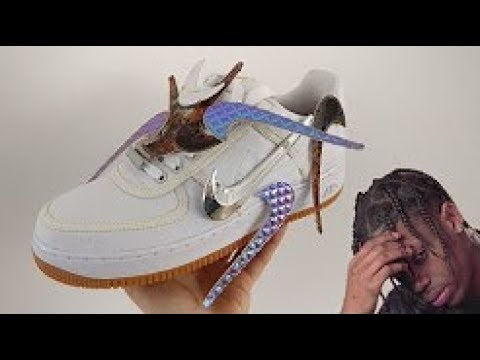 1570064646d3 Air Force 1 X Travis Scott Unboxing   On feet. Sneaker Plug