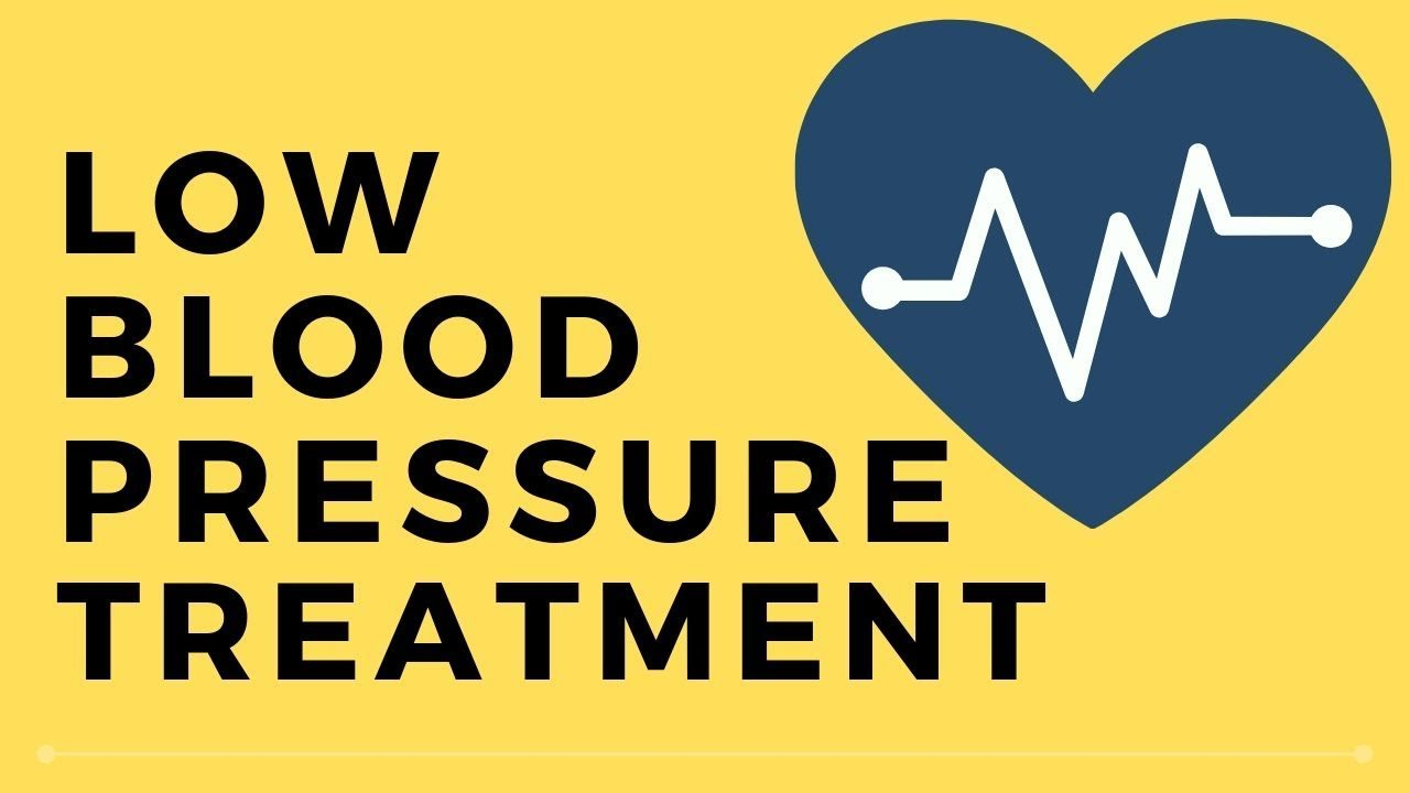 blood pressure is too low how to raise it
