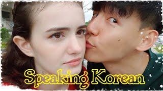 ONLY SPEAKING KOREAN FOR A DAY (Part 2) /International Couple(amwf)[국제커플]여친에게 한국말만 하기2탄](SAM and JJ) Video