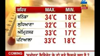Maximum temperature recorded in Hissar was 37 degrees today