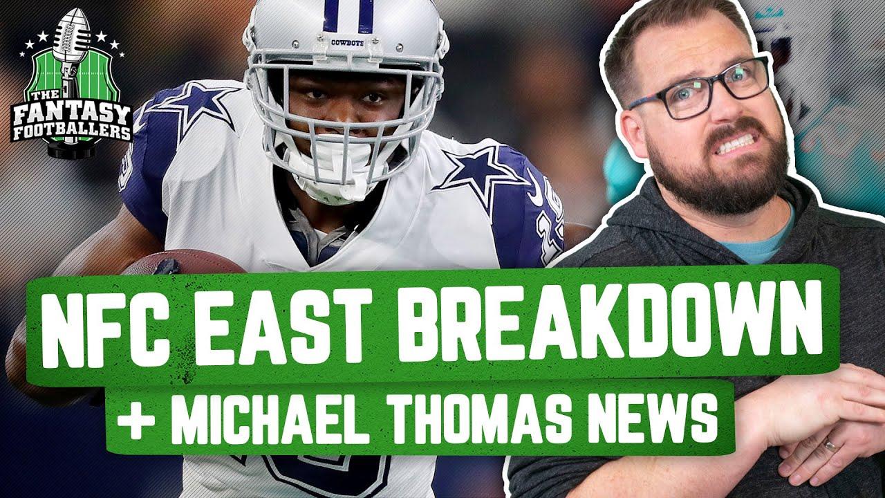 Fantasy Football 2021 - NFC East Breakdown + Michael Thomas Injury, Happy Days - Ep. 1077