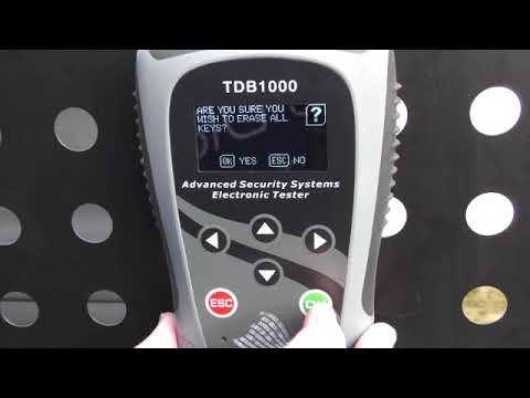 TDB1000 Ford  Transit Courier 2017 key programming