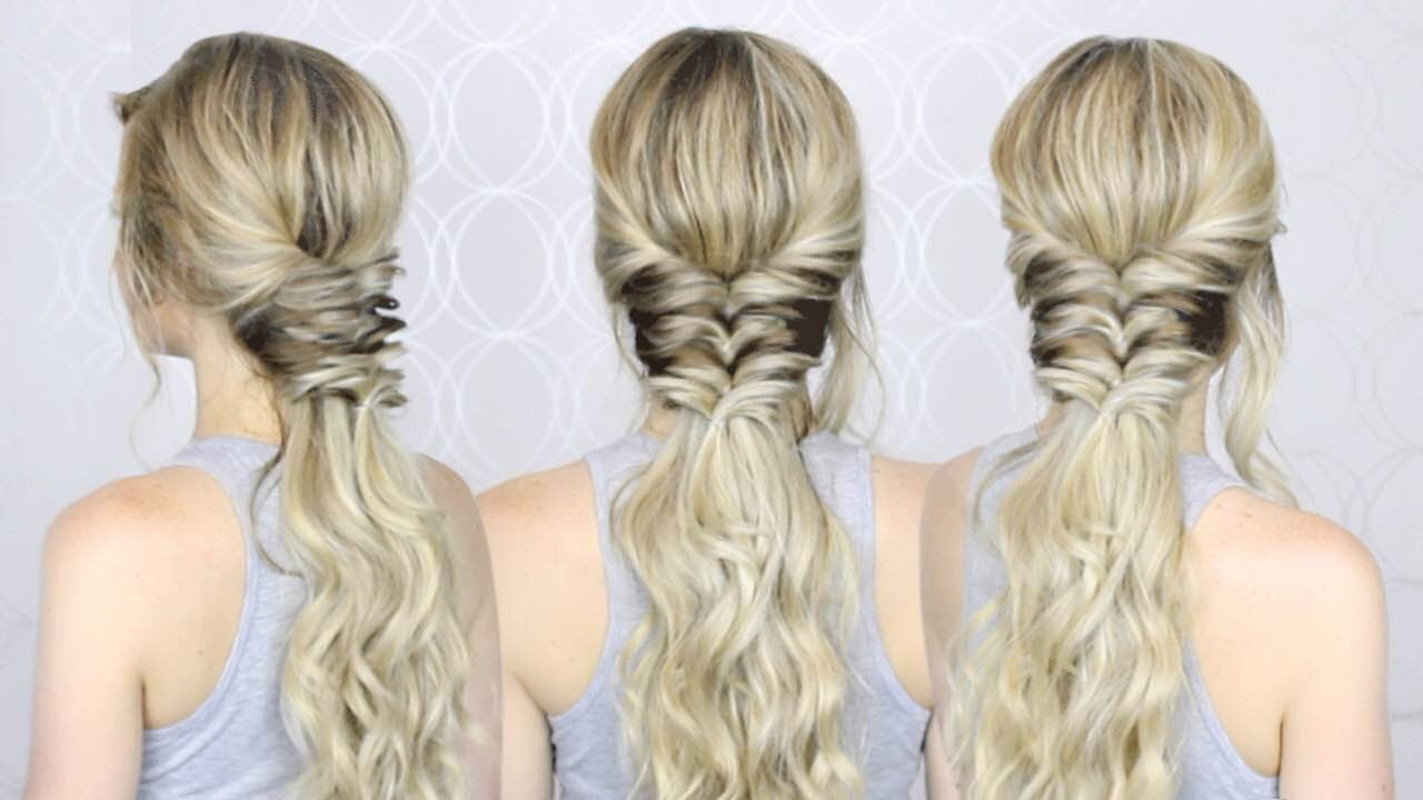 topsy tail ponytail hairstyle